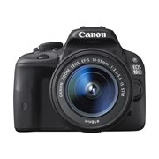 Canon EOS 100D 18 Megapixel Digital SLR Camera with Lens - 18 mm - 55 mm - Black
