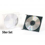 Pearl 50er-Set Slim-CD-Hüllen transparent/schwarz