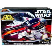 Hasbro Year 2006 Star Wars The Saga Collection Episode Iii Revenge Of The Sith Vehicle Set Obi Wan Kenobis Jedi Starfighter With Opening Canopy, Firing Blaster Cannon, Wings That Spring Open And Retractable Landing Gear