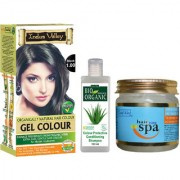 Natural Hair Mask For Natural Hair Rebirth Hair Colour Gel Black 1.00 And Colour Protective Shampoo Combo Pack Of 3