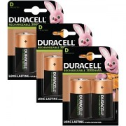 Duracell uppladdningsbara batterier, D-storlek x 6 (BUN0058A)
