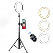 LATZZ T9 Ring Photography Fill Light Set [Ring Light+Tripod Stand+Phone Bracket+Bluetooth Remote Controller]