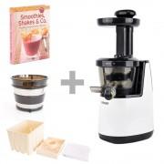 VASNER Juica White Entsafter + Zusatzfilter Blank + Tofu Box + Rezeptbuch