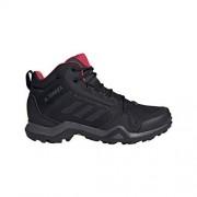 Adidas Terrex Ax3 Mid GTX Botas de Senderismo para Hombre (Carbono, Negro, Rosa Activo), Talla 5