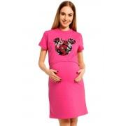 Majka szoptatós hálóing, rózsaszín S/M