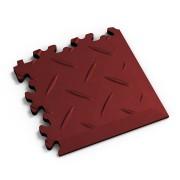 Červený vinylový plastový rohový nájezd 2016 (diamant), Fortelock, 01 - délka 14 cm, šířka 14 cm a výška 0,7 cm