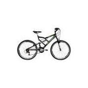 Bicicleta Mormaii Aro 26 Full Suspensão Big Rider 24 Marchas Preta