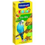 Baton perusi Trio Mix kiwi-ardei-banane, 3buc, 80gr, Vitakraft