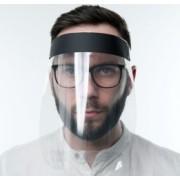 Masca plastic viziera protectie fata material transparent prindere reglabila 25x25 cm
