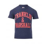 FRANKLIN AND MARSHALL CF Logo Tee Denim