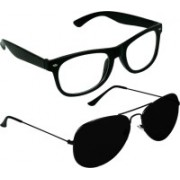 SPY RAYS COLLECTION Wayfarer, Aviator Sunglasses(Clear, Black)