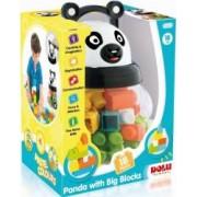 Joc de constructie DOLU Panda 18 piese Multicolor