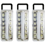 X-EON L7WHT OliteRock Rechargeable Emergency Light Portable 10W -Assorted Color ( Pack of 3 )