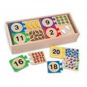 Puzzle din lemn pentru invatarea numerelor Mellisa Doug