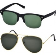 Freny Exim Clubmaster Sunglasses(Green)