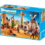 Playmobil - 5247 - Jeu De Construction - Camp Des Indiens Avec Tipi