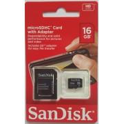 SanDisk SDHC 16GB Class 4 + adapter