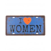 I Heart Women - 31x15 cm Metallskylt