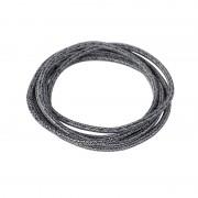 QAZQA Cavo in tessuto intrecciato 1 metro nero e grigio
