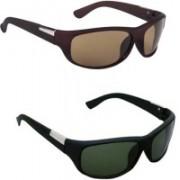 Lee Topper Wrap-around Sunglasses(Green)