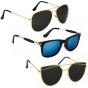Vitoria Aviator, Cat-eye, Wayfarer Sunglasses(Multicolor)