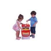 Fogão Infantil Chef Gourmet com Acessórios Casinha Flor Vermelho Xalingo Brinquedos Vermelho