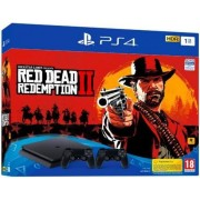 Consola Sony PlayStation 4 Slim 1TB + Extra Controller DS4 + Red Dead Redemption 2 (Negru)