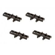 Lego Parts: Technic - Bulldozer Chain Link Treads (Service Pack of 4 - Black)