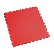 Červená vinylová plastová dlaždice Light 2060 (kůže), Fortelock - délka 51 cm, šířka 51 cm a výška 0,7 cm