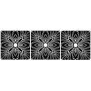 Nonfiguratív, 3 részes falikép, falmatrica szett