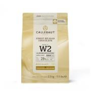 Ciocolata Alba 28% Recipe W2, 2,5 Kg, Callebaut