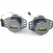 Angel eyes LED 40Watts anneaux LUXE V4 pour BMW E90 E91 - Blanc