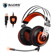 SADES A7 USB 7.1 Gaming Headphones Game Earphone With Microphone Mic LED for Computer Laptop PC Gamer Stereo Headset Best Casque