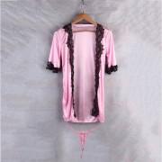 EH Navidad La Ropa Interior Atractiva Atractiva Del Cordón Transparente-rosado