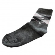 Hearts Squares Sock: 27-30