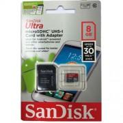 Cartão de Memória microSD Card 8GB Ultra Sandisk | SDXC | Classe 10, UHS-I | SDSDQUA-008G-A46A 1219