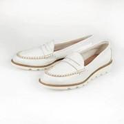 "Leisure Casanova ""Soft Sole"" Penny Loafers, 3.5 - White"