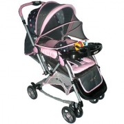 Pollyspet Rocking Baby Stroller (PP3051 Pink)