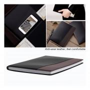 EH Deli 7910 Notebook 120 Páginas 18K Diario Memos Cuentas Grabación Notas Libro - Marrón Oscuro