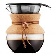 Bodum Pour Over Bryggare 0,5 L/4 koppar filter/kork