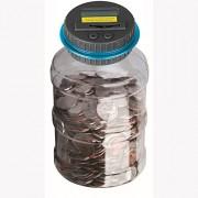 Powstro Piggy Bank Digital Counting Coin Bank Creative Large Money Saving Box Jar Bank LCD Display Coins Saving...