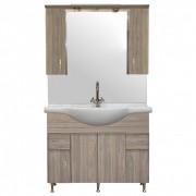 Bianca Plus 105 komplett fürdőszobabútor, rauna szil színben