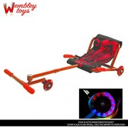 Wembley Ezy Easy Wave Roller with LED Lights - The Ultimate Riding Machine - THE LATEST TREND IN RIDE-ONS! (Red)