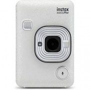 Fuji Instant Camera Instax Mini LiPlay Stone White