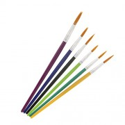 Street27 6 Pieces Fine Detailed Painting Brushes Round Pointed Tip Acrylic Watercolor Oil Ink Paint Brush Set