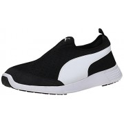 Puma Unisex's St Trainer Evo Slip-On Dp Black and White Running Shoes - 8 UK/India (42 EU) (36215406)