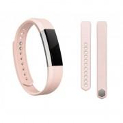 Pachet Bratara fitness Fitbit Alta cu bratara de piele roz Large