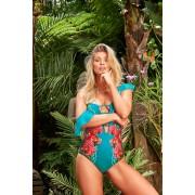 Costum de baie Cosita Linda turcoaz de lux intreg
