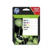 ORIGINAL HP Multipack nero / ciano / magenta / giallo N9J73AE 364 4x inchiostro HP 364: bk + c + m + y