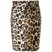Jeremy Scott приталенная юбка с леопардовым принтом Jeremy Scott